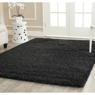 Cozy Solid Black Shag Rug (4' x 6')