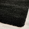 Cozy Solid Black Shag Rug (5'3 x 7'6)