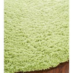 Safavieh Hand-woven Bliss Lime Green Shag Rug (4' Round)