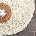 Safavieh Hand-woven Bliss Ivory Shag Rug (4' Round)