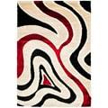 Safavieh Hand-woven Silken Embossed Cream Shag Rug (8' x 10')