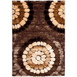 "Safavieh Handwoven Silken Embossed Brown Rectangular Shag Rug (5'3"" x 7'6"")"