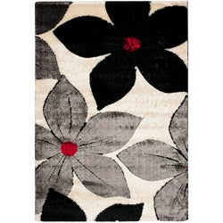 Safavieh Modern Handwoven Silken Embossed Cream Shag Rug (8' x 10')