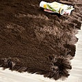 Silken Chocolate Brown Shag Rug (3' x 5')