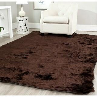 Safavieh Silken Chocolate Brown Shag Rug (4' x 6')