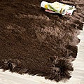 Silken Chocolate Brown Shag Rug (4' x 6')