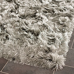 Safavieh Silken Silver Shag Rug (2' x 3')