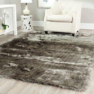 Safavieh Silken Silver Shag Rug (5' x 7')