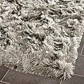 Silken Silver Shag Rug (5' x 7')