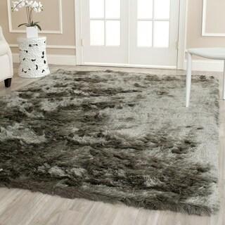 Safavieh Silken Titanium Grey Shag Rug (4' x 6')