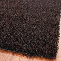 Medley Chocolate Brown Textured Shag Rug (4' x 6')