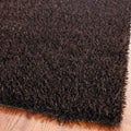 Medley Chocolate Brown Textured Shag Rug (5' x 8')