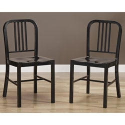 Black Metal Side Chairs (Set of 2)