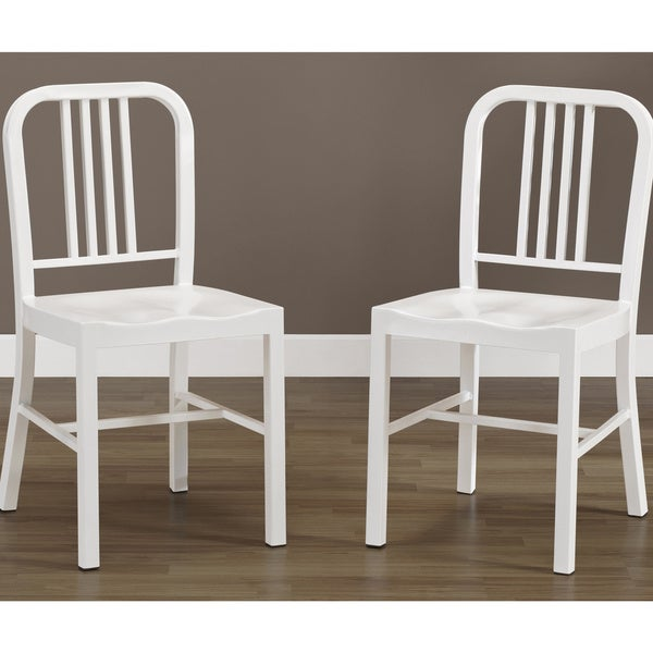 White Metal Side Chairs (Set of 2)