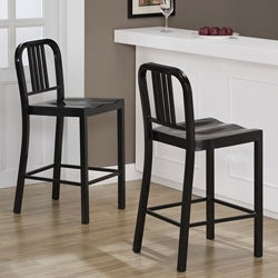 Black Metal Counter Stools (Set of 2)