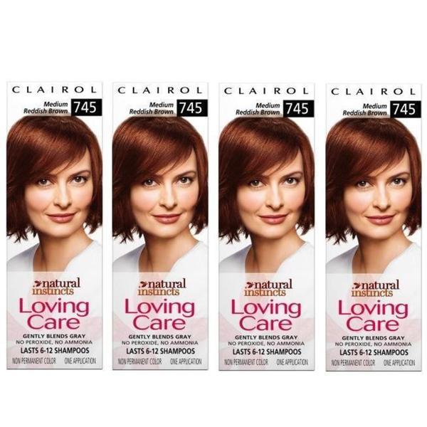 Clairol Loving Care '#745 Medium Reddish Brown' Hair Color (Pack of 4)