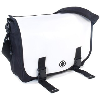 DadGear Messenger Diaper Bag in Wicked White