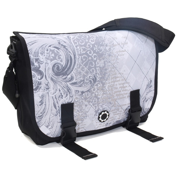 DadGear Messenger Diaper Bag in Ancient Argyle