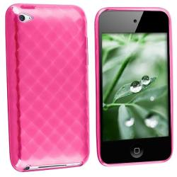 INSTEN Hot Pink TPU iPod Case Cover for Apple iPod touch 4th Gen