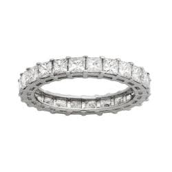 14k White Gold 3 1/5ct TDW Princess Diamond Eternity Band (H-I, SI1-SI2)