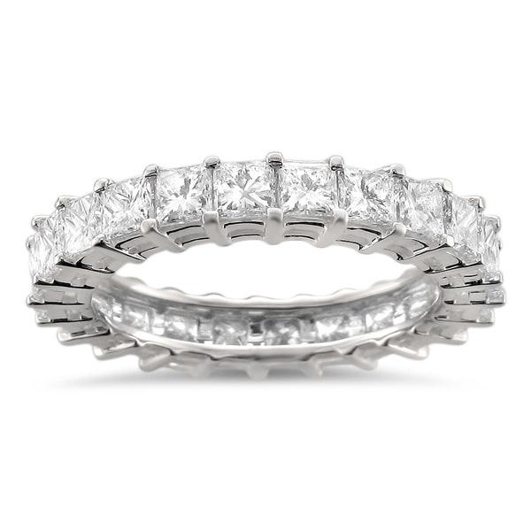 Montebello 14k White Gold 3 1/5ct TDW Princess Diamond Eternity Band (H-I, SI1-SI2)