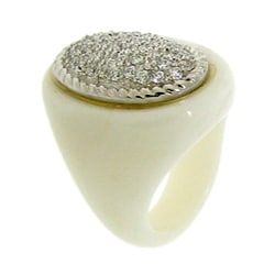 Chunky Clear Cubic Zirconia White Ring