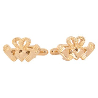 Cuff Daddy Goldplated Claddagh Cuff Links