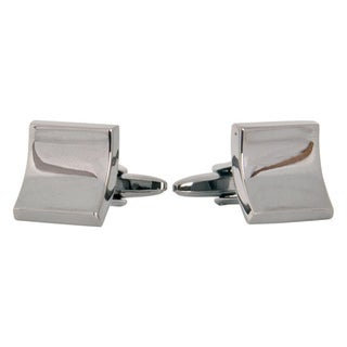 Cuff Daddy Gunmetal Elliptical Square Cuff Links