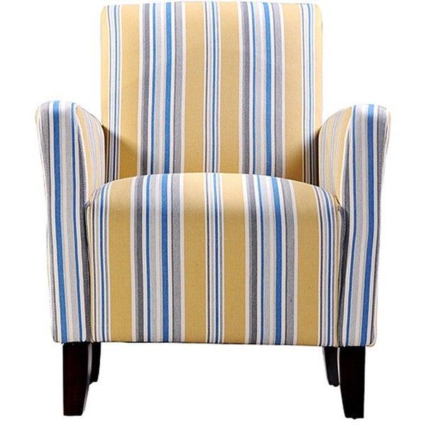 Portfolio Gia Urban Arm Chair Cabana Golden Yellow Stripe