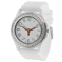 Geneva Platinum Women's Rhinestone Texas Longhorns Watch