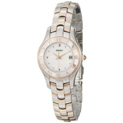 Seiko Women's 'Reflections' Stainless and Rosegold Steel Quartz Watch