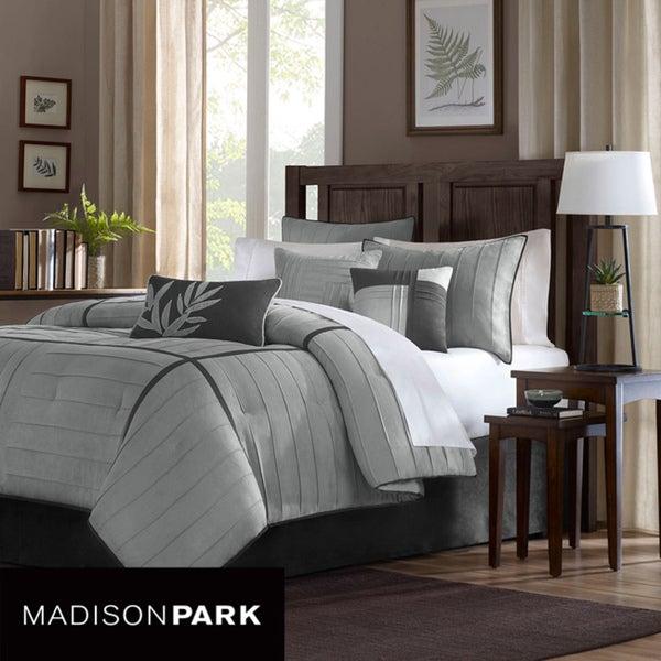 Madison Park Meyers Grey 7-piece Comforter Set