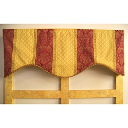 Red Cotton Regal Stripe Valance