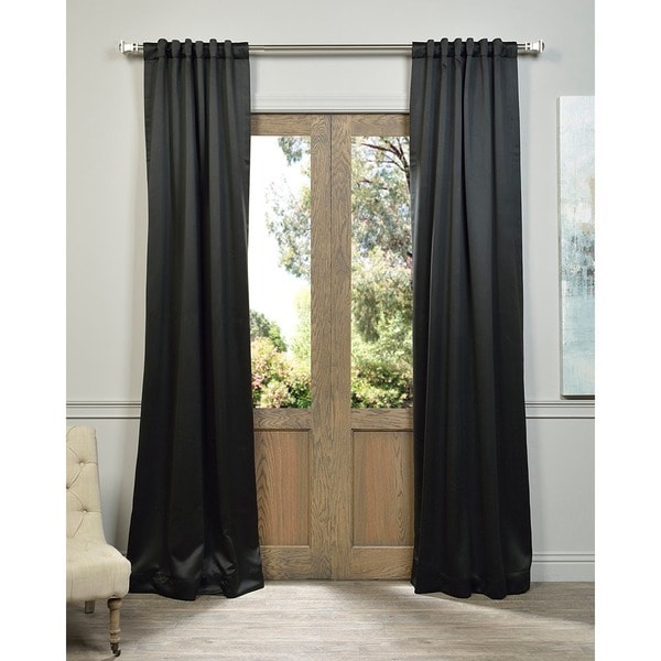 Jet Black Blackout Curtain Panel Pair