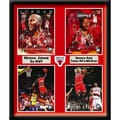Chicago Bulls Michael Jordan and Derrick Rose Deluxe Frame (20x24)