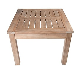 Solid Teak Natural Square Side Table