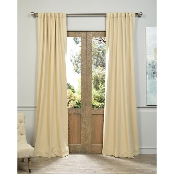 Exclusive Fabrics Biscotti Beige Blackout Curtain Panel Pair