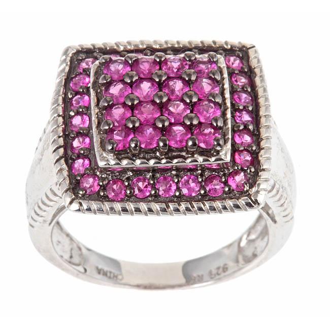 D'Yach Sterling Silver 1 4/5ct TGW Heated Ruby Fashion Ring