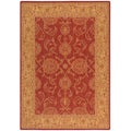 Nourison Seasons Red Floral Rug (5'3 x 7'6)