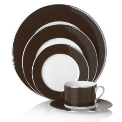 Mikasa 'Color Studio' Brown Platinum 5-piece Dinnerware