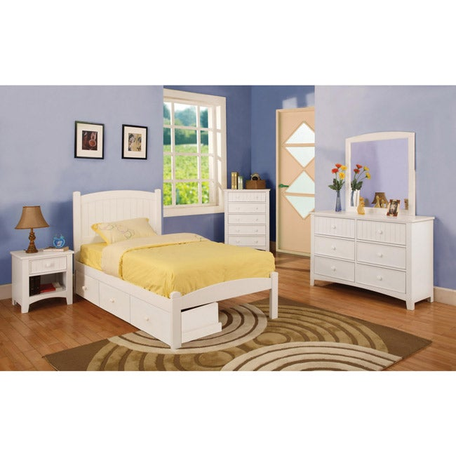 full size bed three drawers kids furniture bedroom set nightstand room