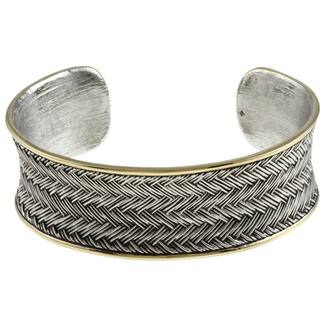 Kate Bissett Two-tone Modern Tribal Style Cuff Bracelet