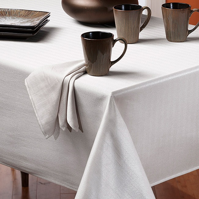 Rosedale Spill-proof White 60x104-inch Tablecloth