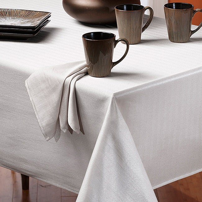 Rosedale Spill-proof White 60x84-inch Tablecloth