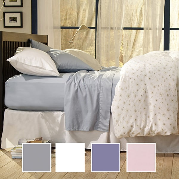 Sealy Cotton Sateen Twin/Full-size 330 Thread Count Sheet Set