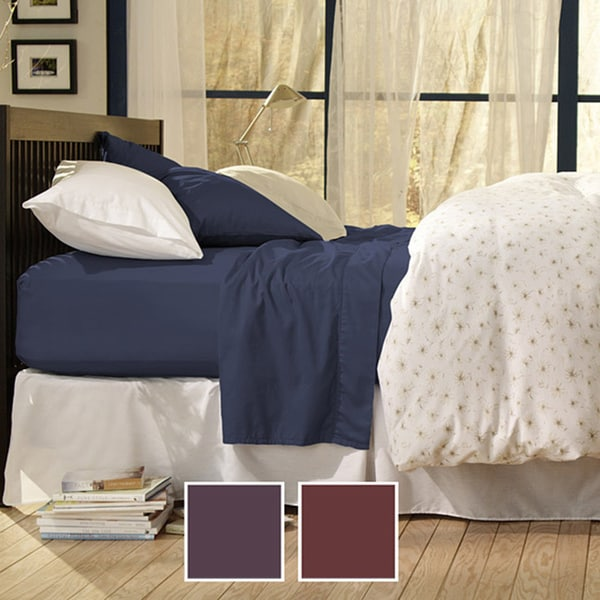 Sealy Cotton Sateen Twin/Full 330 Thread Count Sheet Set