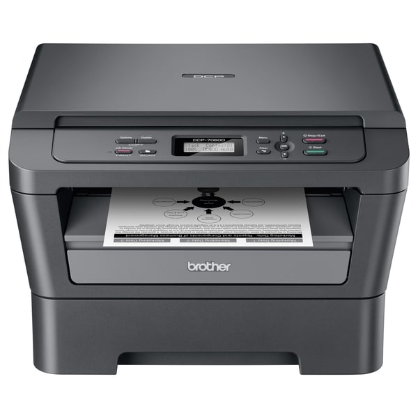 Brother DCP-7060D Laser Multifunction Printer - Monochrome - Plain Pa