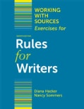 Working With Sources: Exercises for Rules for Writers (Paperback)