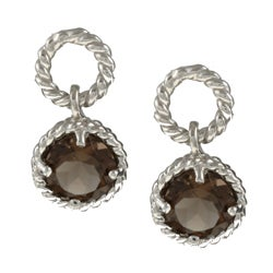 La Preiosa Sterling Silver Smokey Quartz Earrings
