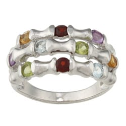 La Preciosa Sterling Silver Multi-Gemstone Ring